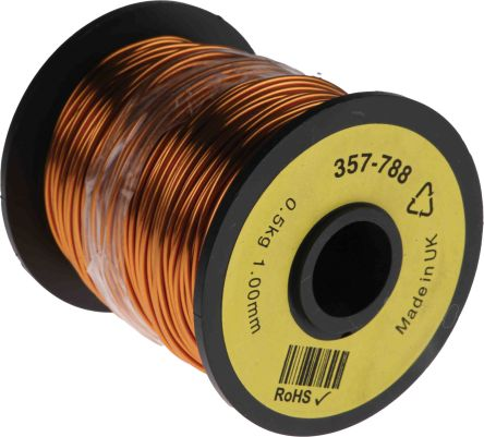 rs pro single core 1 08mm diameter copper wire 80m long rs components