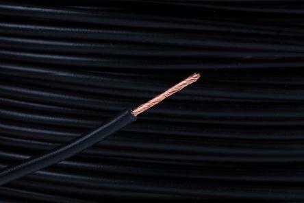 RS Pro H05V-K PVC Schaltdraht, Kupferdraht, schwarz, 1 mm², 32 / 0,2 ...