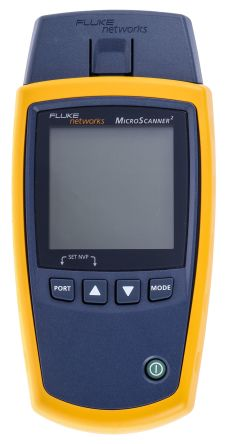 Fluke Networks MICROSCANNER 2 KIT Microscanner 2 Video, Data & Voice Wiring Tester of Ethernet Port Test, Length, PoE
