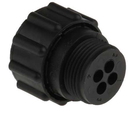 TE Connectivity, 4 Pole Cable Mount Connector Plug, with Female Contacts