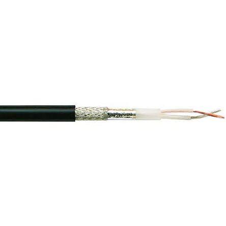 Belden Black Twinaxial Cable 8.38mm OD Polyvinyl Chloride PVC, 152m