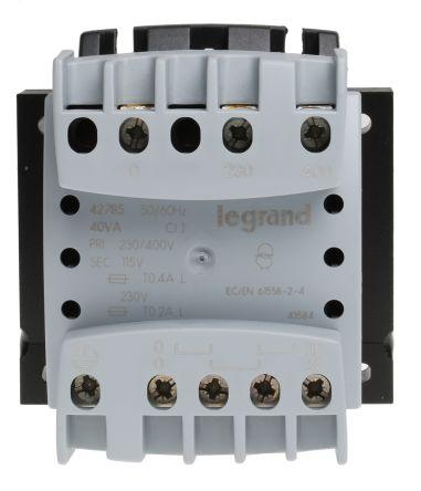 Legrand 40VA Control Panel Transformers, 230V ac, 400V ac Primary 1 x, 115V ac, 230V ac Secondary