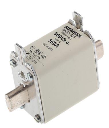 Siemens 160A 00 NH Centred Tag Fuse, gG, 500V ac