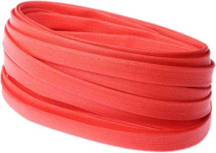 RS PRO Braided Acrylic Fibreglass Red Cable Sleeve, 6mm Diameter, 5m Length