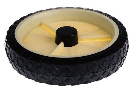 Guitel Black, White Rubber Castor Wheels 380076, 50daN
