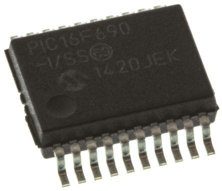 Microchip PIC16F690-I/SS, 8bit PIC Microcontroller, 20MHz, 4096 words  Flash, 20-Pin SSOP