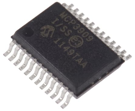 Microchip MCP3909-I/SS Energy Meter IC, 16 bit, 24-Pin SSOP