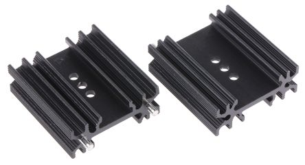 Heatsink, TO-218, TO-220, TO-247, 10.2K/W, 12.5 x 34.5 x 38mm, Solder