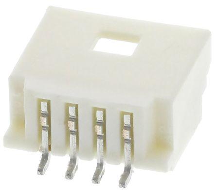 Molex, Pico-Clasp, 501568, 4 Way, 1 Row, Right Angle PCB Header