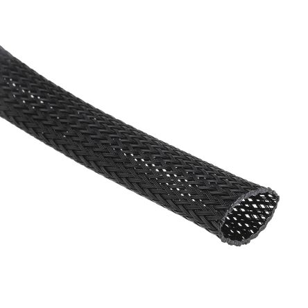 Black Wire, Cable & Conduit PVC Expandable Braided Cable Sleeving Sleeve Wire Weave Protector Guard