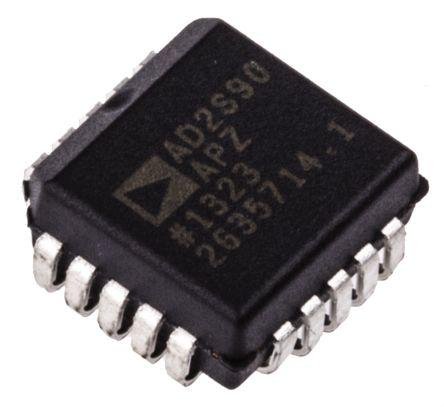 AD2S90APZ, Resolver to Digital Converter 12 bit- Differential-Input Serial 500 rps, 20-Pin PLCC