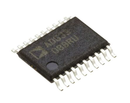 Analog Devices ADG3308BRUZ, Logic Level Translator, 3-State, 1.15 → 5.5 V, 20-Pin TSSOP