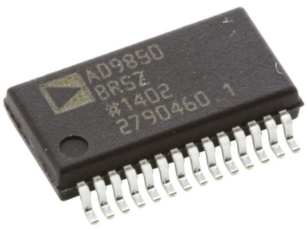 AD9850BRSZ, Direct Digital Synthesizer 10 bit-Bit 125000ksps, 28-Pin SSOP