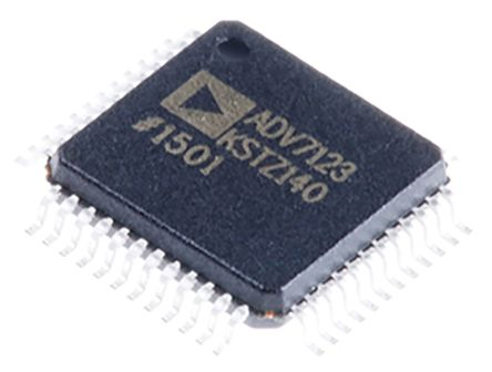 ADV7123KSTZ140, Video DAC Triple, 10 bit- 140Msps ±5%FSR Parallel, 48-Pin LQFP