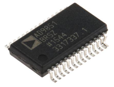 AD9851BRSZ, Direct Digital Synthesizer 10 bit-Bit 180000ksps, 28-Pin SSOP