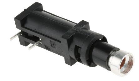 Bulgin 10A Slotted Cap PCB Mount Fuse Holder for 5 x 20mm Cartridge Fuse, 250V
