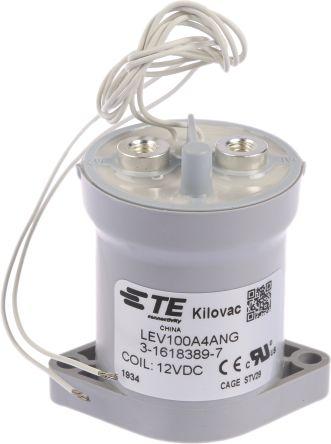 TE Connectivity KILOVAC LEV100 1 Pole Contactor, 1NO, 12 V dc Coil