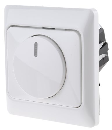 2 Way 1 Gang Rotary Dimmer Switch, 420W, 230 V