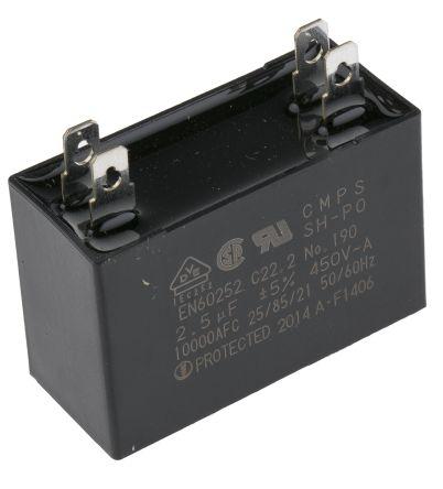 Panasonic M91 Reversible Induction AC Motor, 40 W, 1 Phase, 4 Pole, on