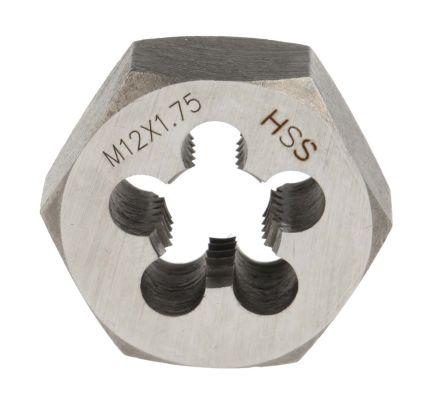 RS PRO 1.75mm Pitch M12 HSS Die Nut