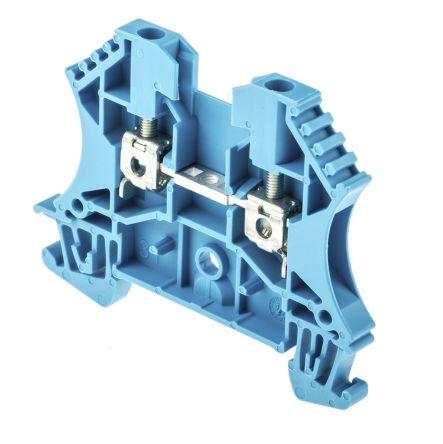 Weidmuller Feed Through Terminal Block, WDU Series , 2.5mm², 800 V, 32A, Screw Down Termination, Blue, Single Level