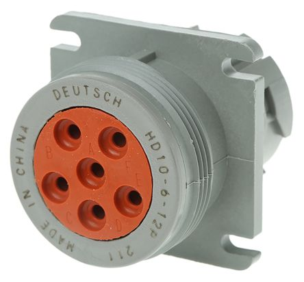 Deutsch HD10 Series Male Cable Mount Housing, 6 contacts Socket