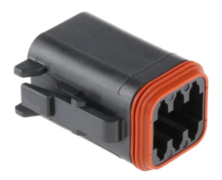 Deutsch DT Series, 6 Way Plug Connector, with Crimp Termination Method