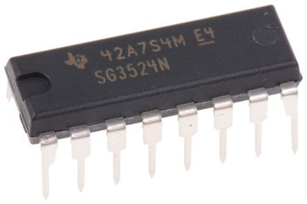 Texas Instruments SG3524N, Dual PWM Voltage Mode Controller, 100 mA, 450 kHz 16-Pin, PDIP