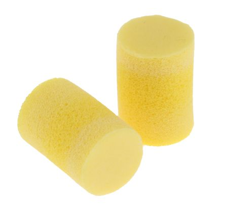 3M E.A.R Classic Uncorded Disposable Ear Plugs, 28dB, Yellow, 250 Pairs per Package