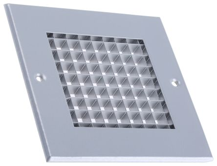 Silver Aluminium Grille, 125 x 125mm product photo