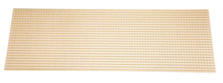 01-3938, Single-Sided Stripboard FR-2 291.3 x 95.4 x 1.6mm FR1 product photo