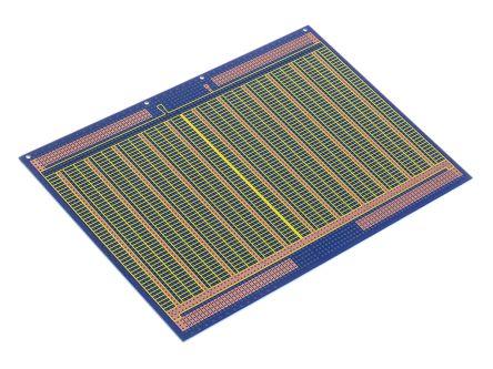 10-2846, Double-Sided Stripboard Epoxy Glass 233.4 x 160 x 1.6mm DIN 41612 FR4 product photo