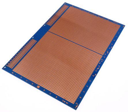 10-27559, Single-Sided Stripboard Epoxy Glass 233.4 x 160 x 1.6mm DIN 41612 FR4 product photo