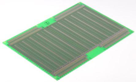 222-2993, Double-Sided Stripboard Epoxy Glass 160 x 233.4 x 1.6mm DIN 41612 FR4 product photo