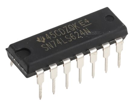 Texas Instruments 1.1 → 25 MHz VCO Oscillator, 14-Pin PDIP SN74LS624N