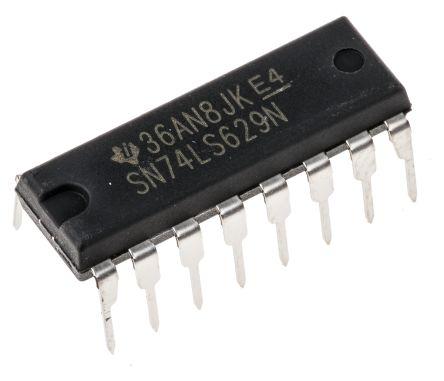 Texas Instruments 1.1 → 25 MHz VCO Oscillator, 16-Pin PDIP SN74LS629N
