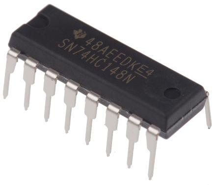 Texas Instruments SN74HC148N, Priority Encoder, 8 to 3, 2 → 6 V, 16-Pin PDIP