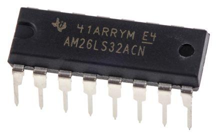 Texas Instruments AM26LS32ACN, Quad-RX Line Receiver, RS-422, V.11, 5 V, 16-Pin PDIP