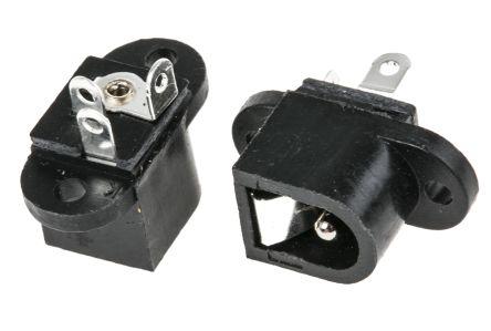 DC//Netzgeräte Einbaubuchse 2,1mm für Leiterplattenmontage mit Öffner