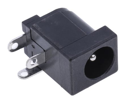 PCB Mount DC Power Socket 2.1mm Right Angle 1A product photo