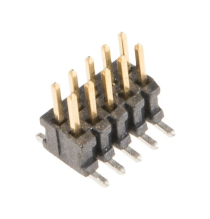 Samtec FTSH, 1.27mm Pitch, 10 Way, 2 Row, Straight Pin Header, Surface Mount