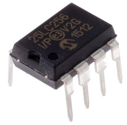 Microchip 25LC256-I/P, 256kbit Serial EEPROM Memory, 50ns 8-Pin PDIP SPI