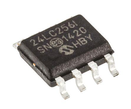 Microchip, 256kbit Serial EEPROM Memory, 900ns 8-Pin SOIC I2C