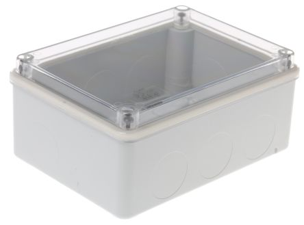 Thermoplastic IP55 Junction Box, 153 x 110 x 66mm, Grey