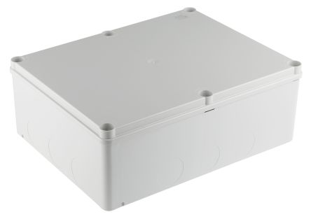 Thermoplastic IP55 Junction Box, 310 x 240 x 110mm, Grey