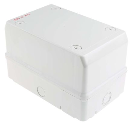 Polycarbonate IP65 Junction Box, 140 x 140 x 220mm, Off White