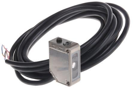 Diffuse Photoelectric Sensor 12 mm Detection Range NPN IP69K Block Style E3ZM-V61 2M product photo