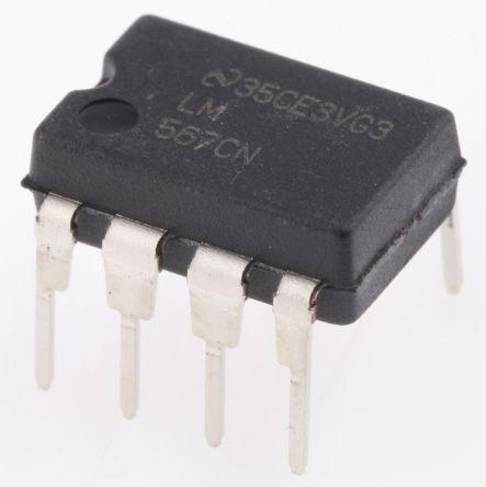 Texas Instruments LM567CN/NOPB, DTMF Decoder, 0 5MHz, 4 75 → 9 V, 8-Pin MDIP