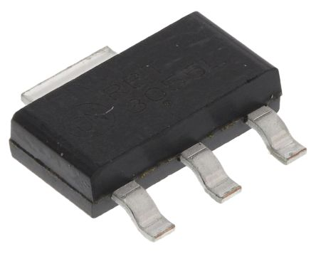 N-Channel MOSFET, 3 A, 60 V, 3 + Tab-Pin SOT-223 ON Semiconductor NTF3055L108T1G