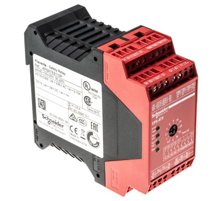 Schneider Electric XPS ATE 24 V dc Safety Relay Dual Channel With 2 Safety  Contacts